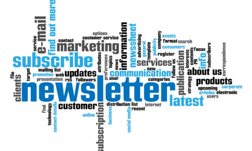 """NEWSLETTER"" Tag Cloud (customer services information marketing)"