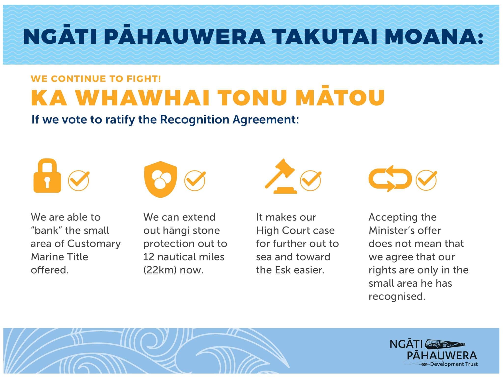 He Pānui: Ngāti Pāhauwera Takutai Moana